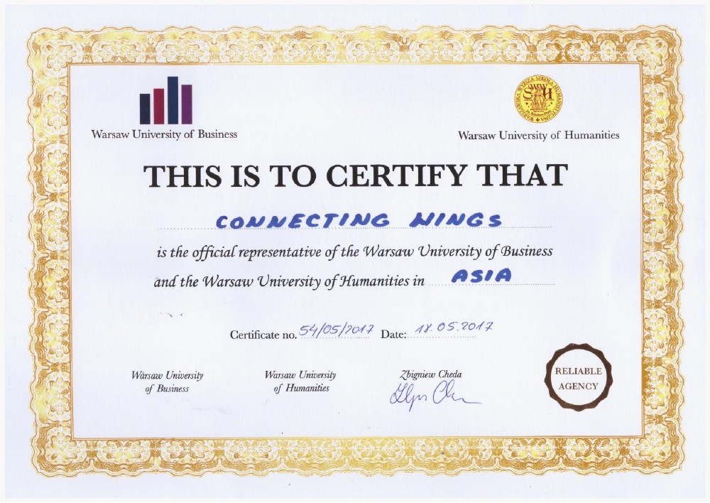 Certificates | Connecting Wings | Students & Work Visa | IELTS ...